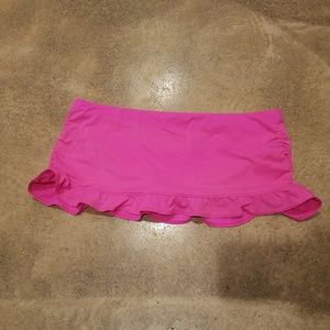 Athleta Hot Pink Swim Skirt Mini Large